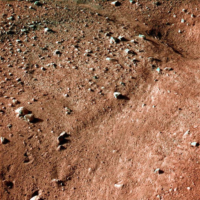 Bodemstructuur op Mars Beeld afp