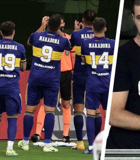 Dochter Maradona in tranen na aangrijpende hommage Boca Juniors aan haar vader