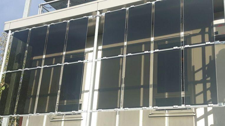 Doorzichtige zonnepanelen.  Beeld Sirius Solar