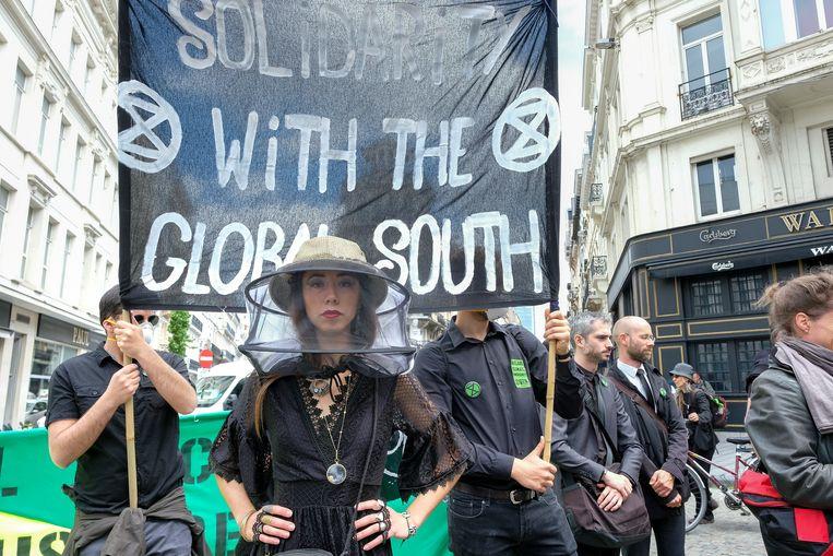Activisten van Extinction Rebellion
