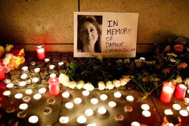 Malta staat stil bij de moord op Daphne Caruana Galizia Beeld reuters