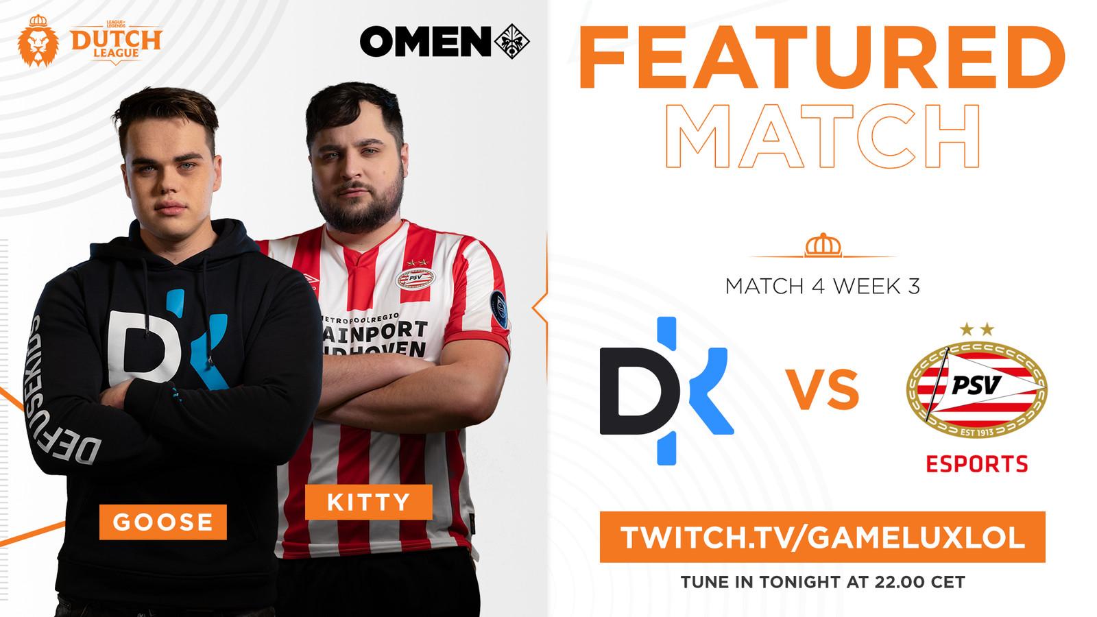 Favorieten PSV Esports en Defusekids treffen elkaar in speelronde 3 van de Dutch League