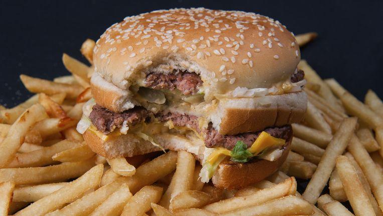 Een normale hamburger. Beeld AFP