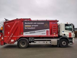 """Leuven bedankt afvalophalers en straatvegers: """"We gaan de vuilniswagens pimpen"""""""