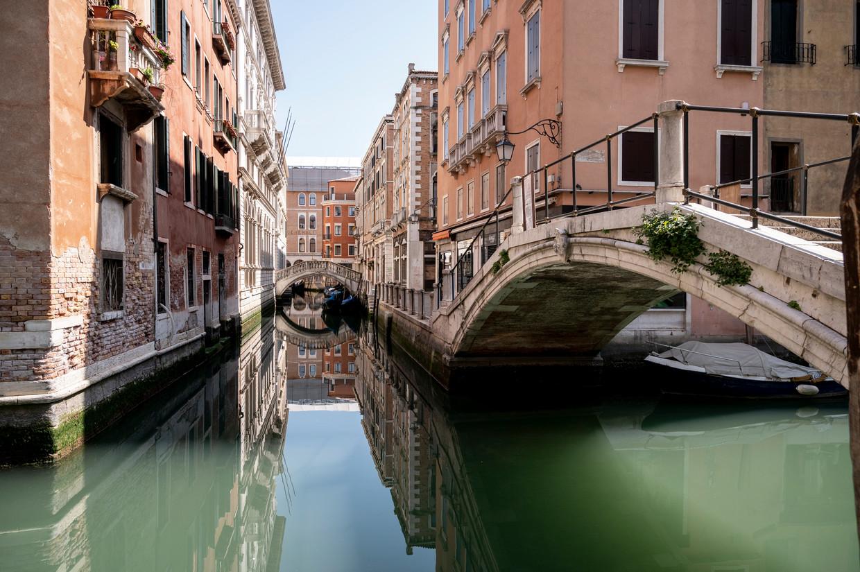 De kanalen van Venetië zijn al een paar maanden leeg. Beeld Getty