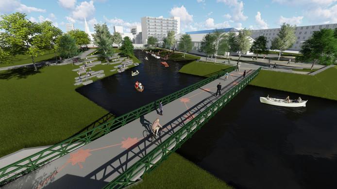 De Nieuwe Mark over het terrein van de Seeligkazerne-Zuid dat een park moet worden.