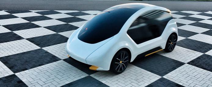 Elektrische lichtgewicht personenauto Amber One.