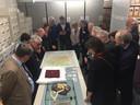 De rondleidingen door het archief van het Regionaal Archief konden rekening op veel belangstelling tijdens de viering van het 50 jarig bestaan van Heemkundekring Tilborch