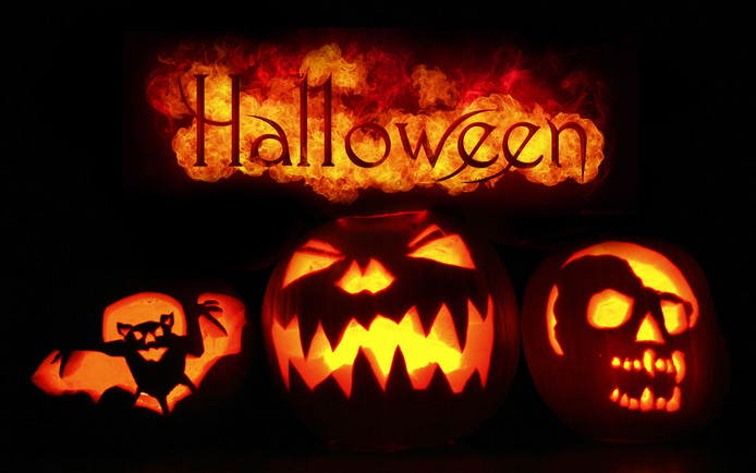 Halloween spooktocht.