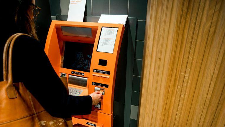 De ATM's hebben ongeveer dezelfde grootte als deze van de ING. Beeld anp