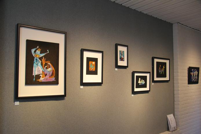 Werken van Herman Prins in het museum voor Vlakglas en Emaille.