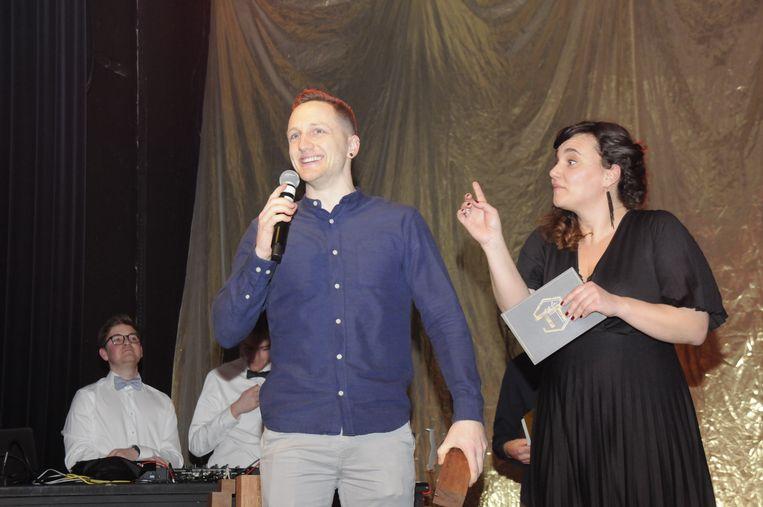 Gilles Thiry kreeg de award overhandigd door presentatrice An Jordens.