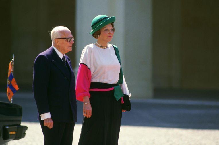 De Italiaanse driekleur kwam terug in de kledij van de toenmalige koningin Beatrix. Beeld anp