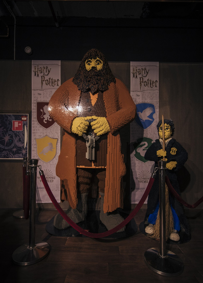 Er staat een levensgrote Hagrid in de winkel