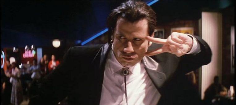 John Travolta in Pulp Fiction, om 22.00 op Veronica. Beeld