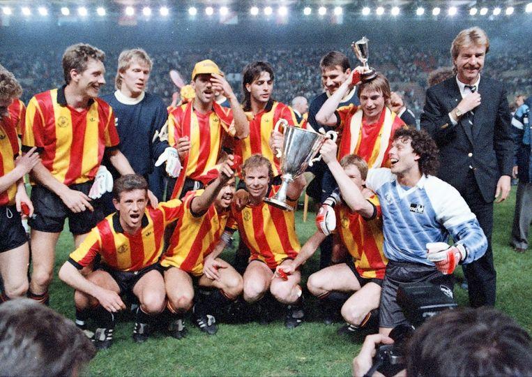 11 mei 1988: KV Mechelen wint als voorlopig laatste Belgische club een Europabeker. Tegen Ajax werd het in Straatsburg 1-0 dankzij een goal van Ohana.