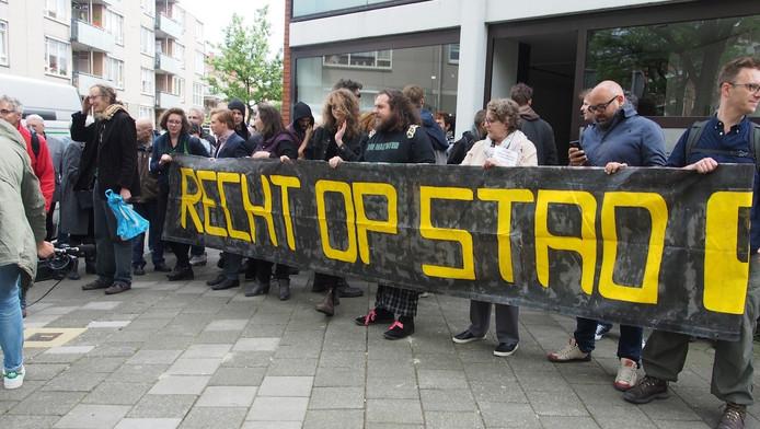 Eerdere bezettingsactie in de Borgerstraat in Oud-West.