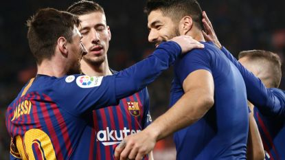 La Liga is gespeeld: Barça klopt Atlético na twee late maar heerlijke goals van koningskoppel Suárez-Messi