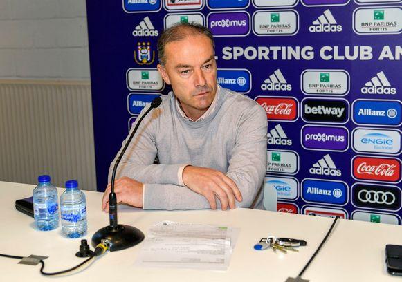 Jean Kindermans bij de persconferentie deze voormiddag.