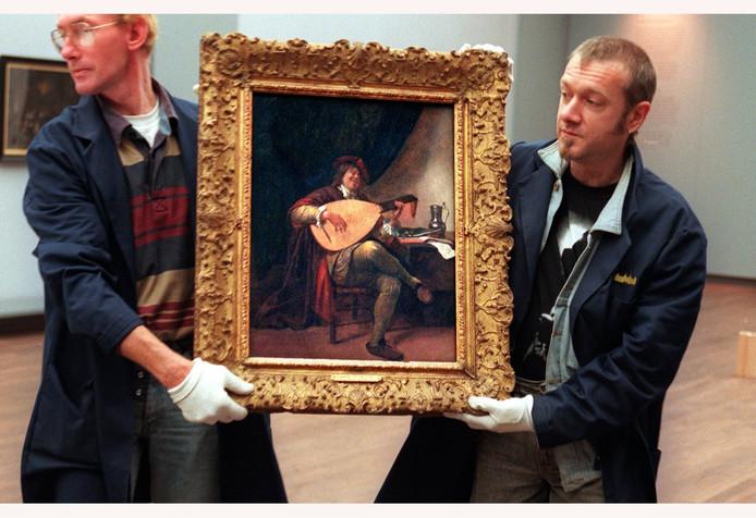 Archieffoto ter illustratie Zelfportret van Jan Steen