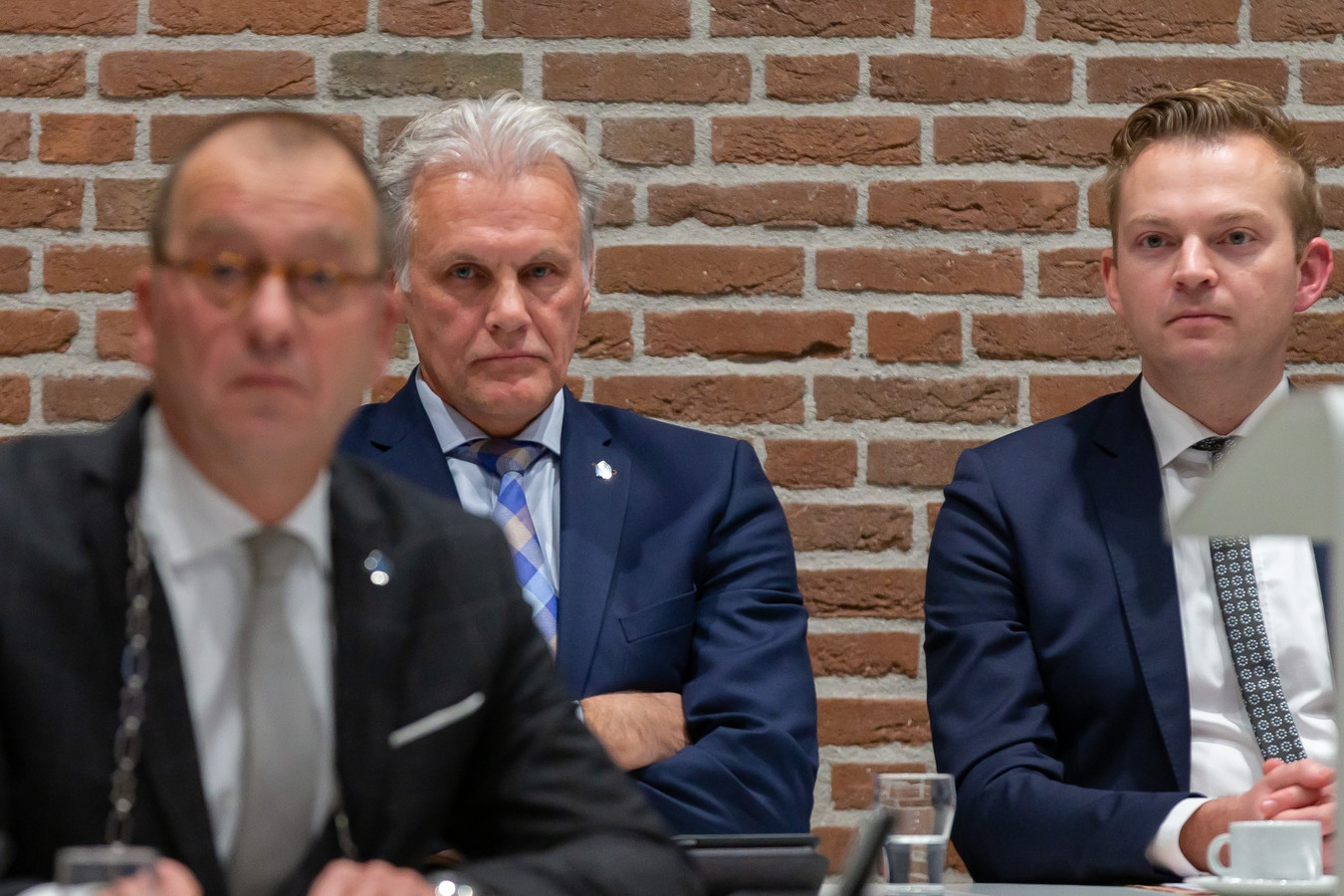 College Staphorst (l-r) Burgemeester Theo Segers, Wethouder Lucas Mulder, Wethouder Alwin Mussche.