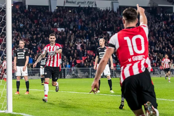 Gastón Pereiro zorgde thuis tegen Willem II voor de 2-0.