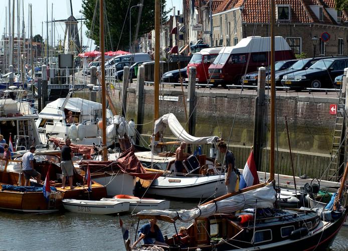 De haven in Zierikzee op archiefbeeld.