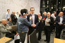 RVP-leider Martien de Bruijn net nadat de uitslag van de  Rucphense gemeenteraadsverkiezingen bekend werden.