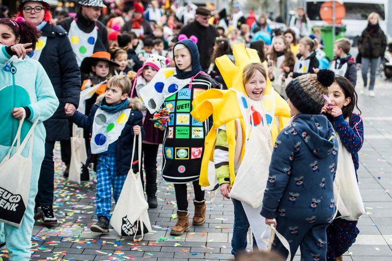 Dit jaar trekt geen kinderstoet door d straten van de binnenstad van Genk.
