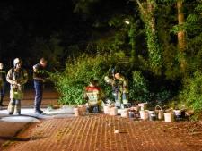 Politie en brandweer naar De Bilt vanwege mogelijk gedumpt drugsafval, maar het blijkt verf