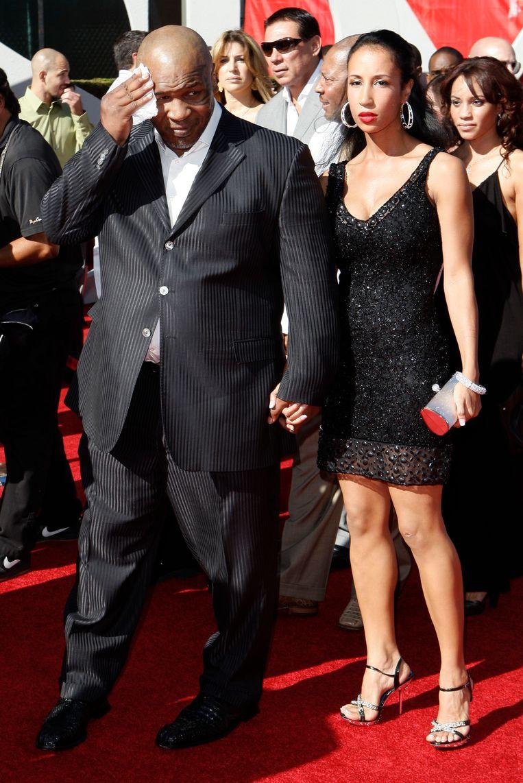 Tyson op de rode loper met zijn huidige vrouw Lakiha Spicer.