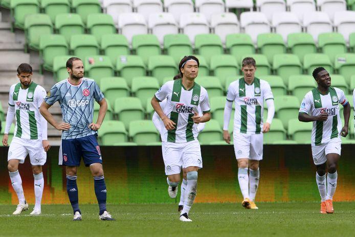 FC Groningen won met 1-0 van Ajax.