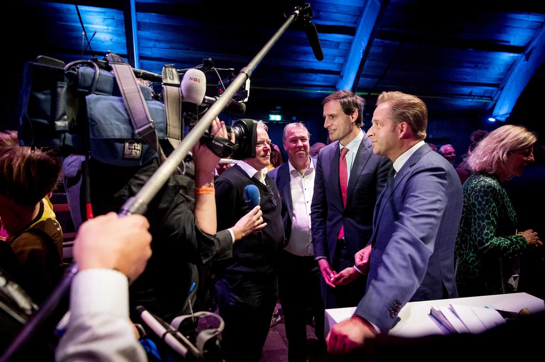 9 november 2019: Wopke Hoekstra en Hugo de Jonge zijn dé twee kroonprinsen van het CDA.  Beeld ANP