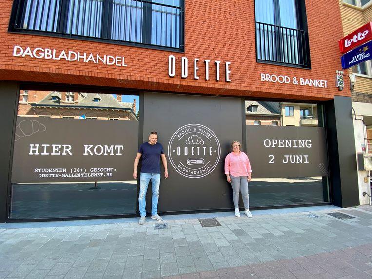Bart Rombouts en Els Van Thielen aan 'Odette', die op dinsdag 2 juni opent.