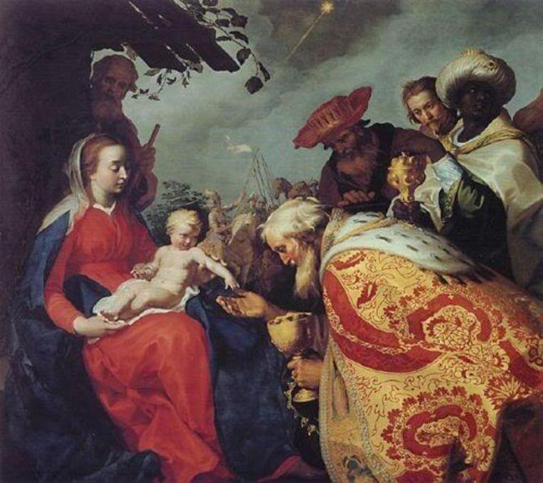 null Beeld Aanbidding van de Magiërs (1624, Abraham Bloemaert (1564-1651)