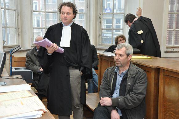 Jan Creve met advocaat Igor Rogiers tijdens één van de vele zittingen voor de rechtbank