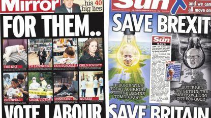 """Van """"BORIS"""" in hoofdletters tot """"red de brexit, red Groot-Brittannië"""": Britse kranten laten voorkeur duidelijk zien"""
