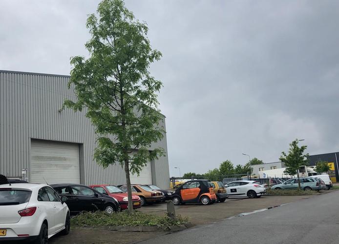 Het bedrijf in Rilland waar 8 mei bij een grote controle tal van gestolen goederen in beslag zijn genomen.