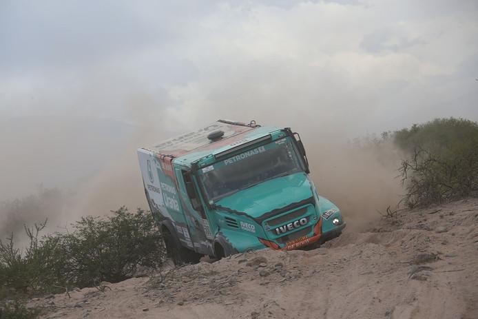 Gerard de Rooy in de derde etappe van de Dakar 2017