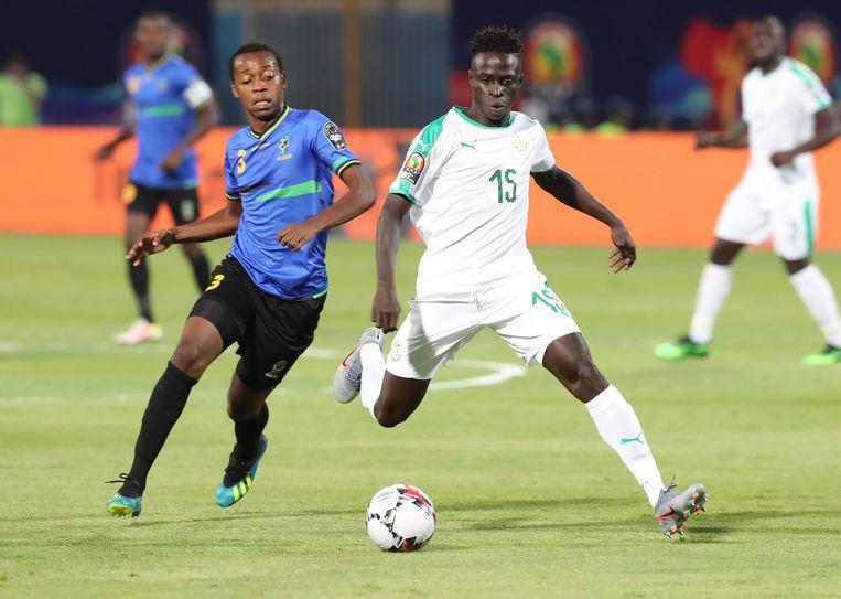 Diatta in actie tijdens de Africa Cup.