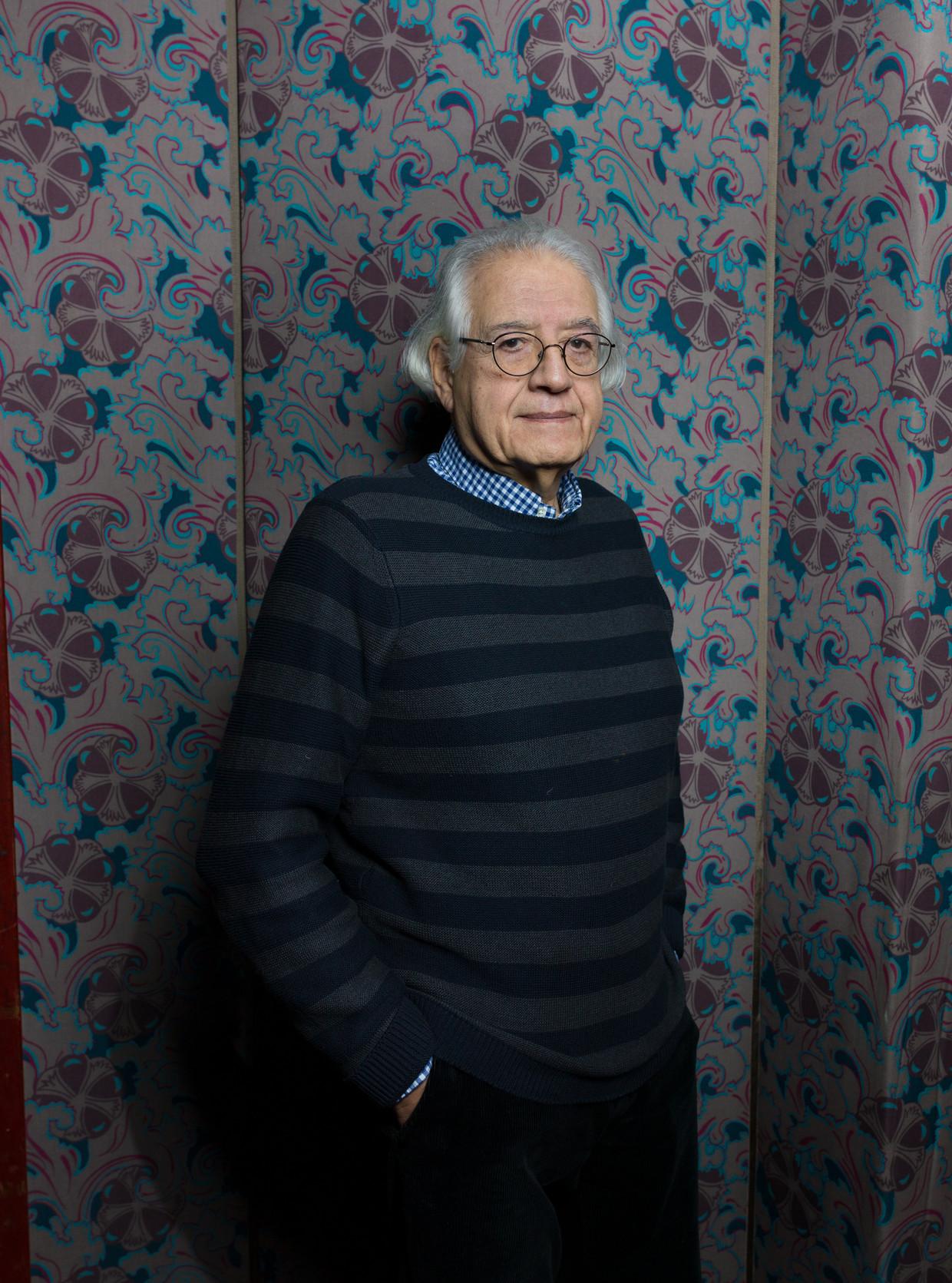 Patricio Guzmán, documentairemaker, in Tuschinski Amsterdam.