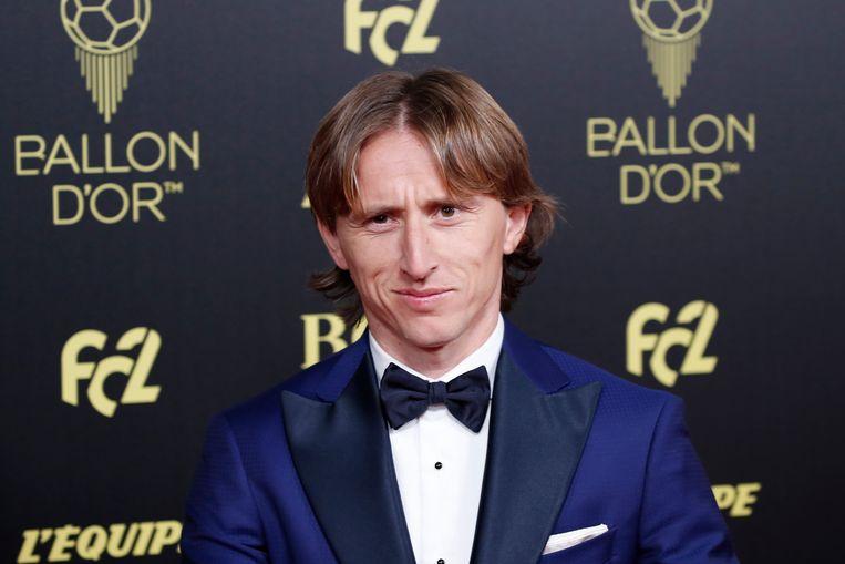 Luca Modric, die de prijs vorig jaar won.