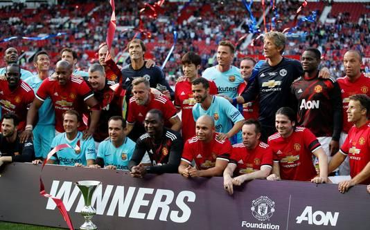 De 'Legends' van Manchester United en FC Barcelona.