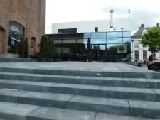 Sokkel bij oude toren Petrus Dondersplein bijna klaar