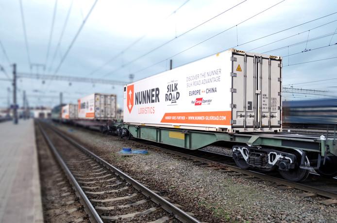 Nunner maakt voor vervoer per spoor gebruik van een directe verbinding tussen Amsterdam en China.