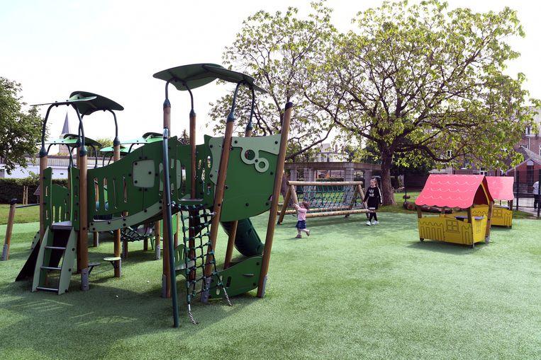 Nieuwe speeltuin in de GBS Leefdaal