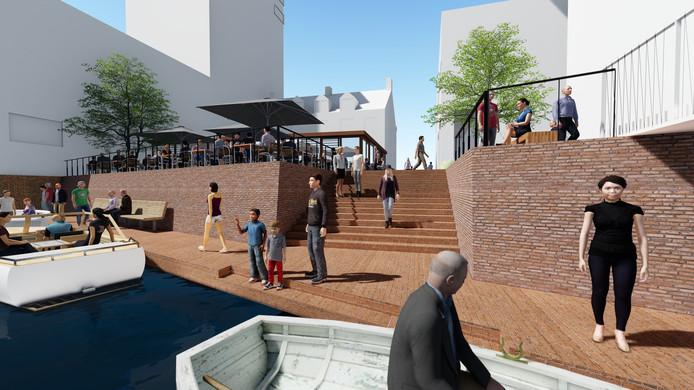 Een van de grote projecten waar Breda de komende jaren in investeert: de Nieuwe Mark. Hier een beeld van hoe een deel daarvan er over enkele jaren kan uitzien.