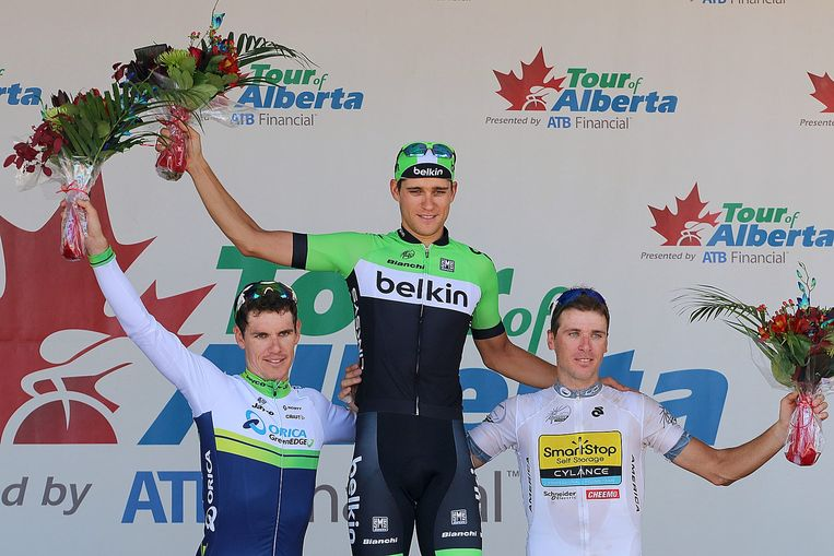 Theo Bos, etappewinnaar in de ronde van Polen en de ronde van Alberta. Beeld Hollandse Hoogte