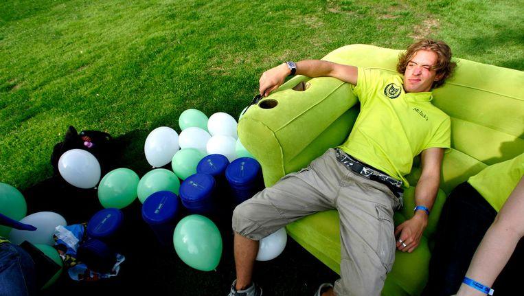 Een Utrechtse student tijdens de introductieweek. Beeld anp