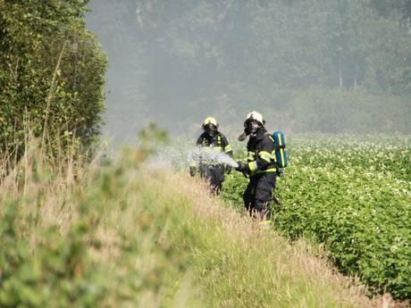 Inwoners Liessel moeten ramen en deuren sluiten vanwege veenbrand